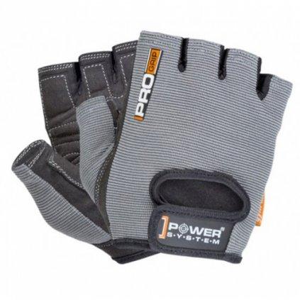 Power System Rukavice Pro Grip šedé