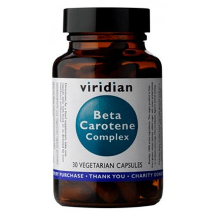 Viridian Beta Carotene Complex (Beta karoten)     30kapslí