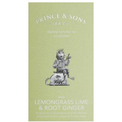 Prince and Sons Lemongrass Lime & Root Ginger 15     sáčků 37,5g