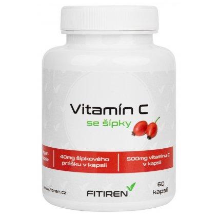 Fitiren Vitamín C se šípky 60 kapslí
