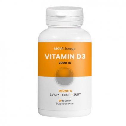 MOVit Energy Vitamin D3 2000 I.U. 90kapslí