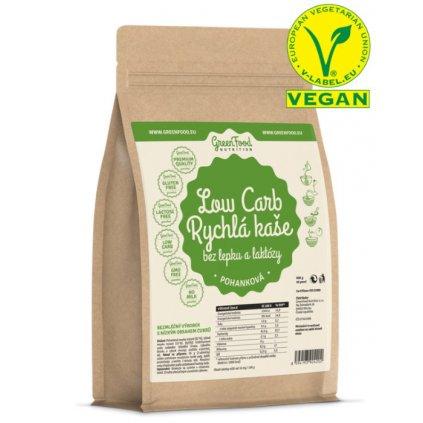 GreenFood Low Carb Rychlá kaše bez lepku a laktózy     pohanková 500g