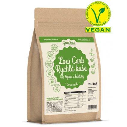 GreenFood Low Carb Rychlá kaše bez lepku a laktózy     čiroková 500g