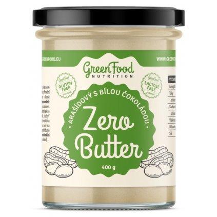 GreenFood Zero Butter Arašídový krém s bílou čokoládou     400g