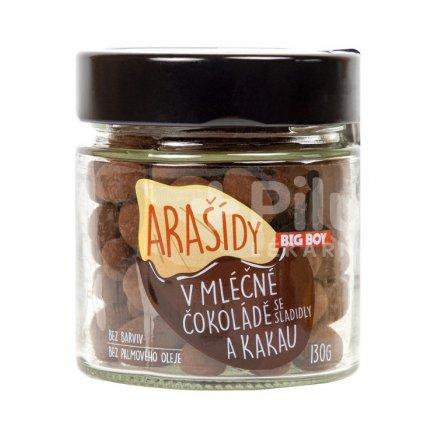 Big Boy Arašídy v mléčné čokoládě a kakau 130g