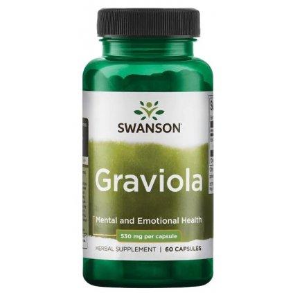 Swanson Graviola 530mg 60kapslí