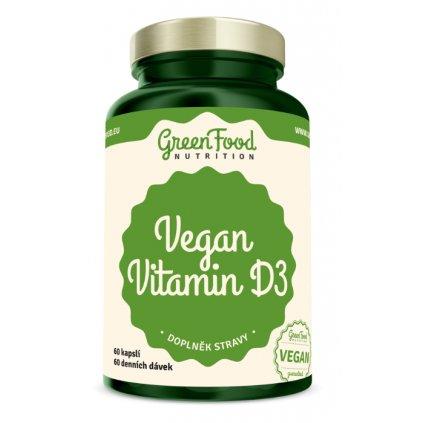 GreenFood Vegan Vitamin D3 60kapslí