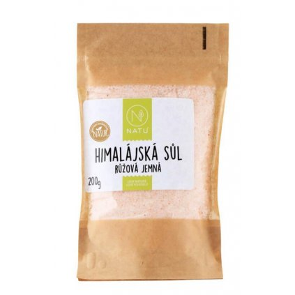 Natu Himalájská růžová sůl jemná 200g