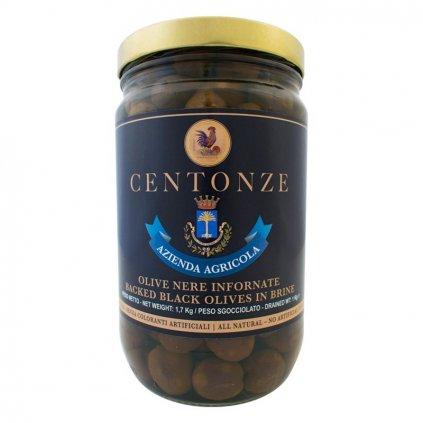 Baked Black Olives in Brine (Olivy Černé) 1kg
