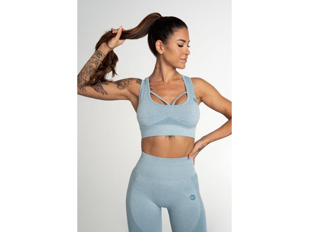 Gym Glamour Bezešvá Podprsenka Fusion Blue