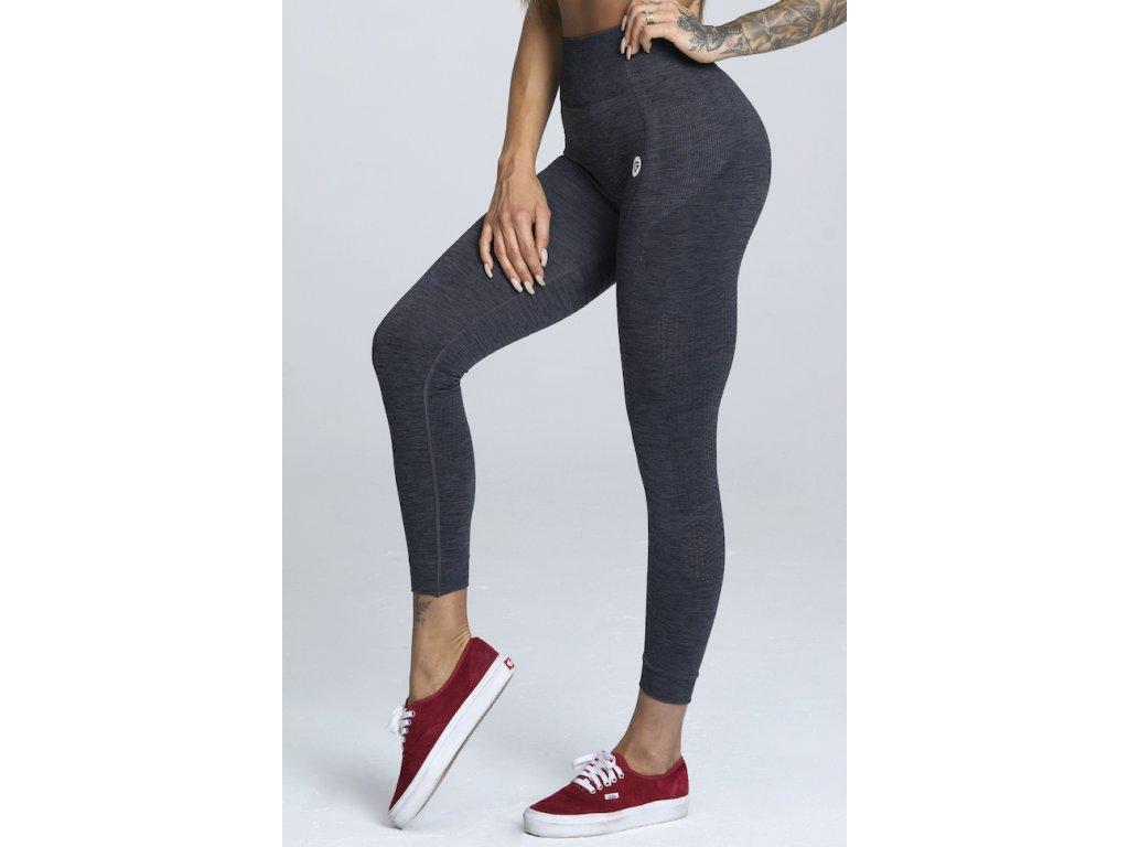 Gym Glamour Legíny Bezešvé Grey Melange