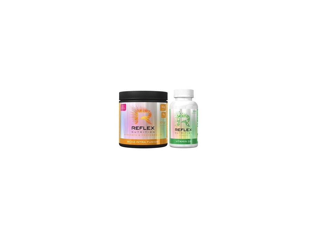 BCAA Intra Fusion® 400g + Vitamin D3 100 kapslí ZDARMA