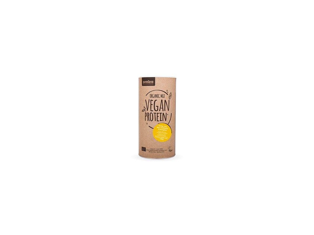 Vegan Protein MIX BIO 400g (hrách, rýže, dýně, slunečnice, konopí)