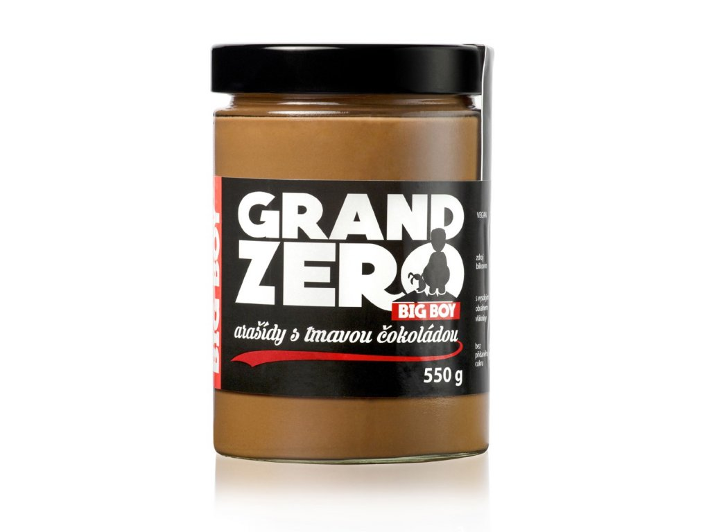 kremy big boy grand zero s tmavou cokoladou 550g
