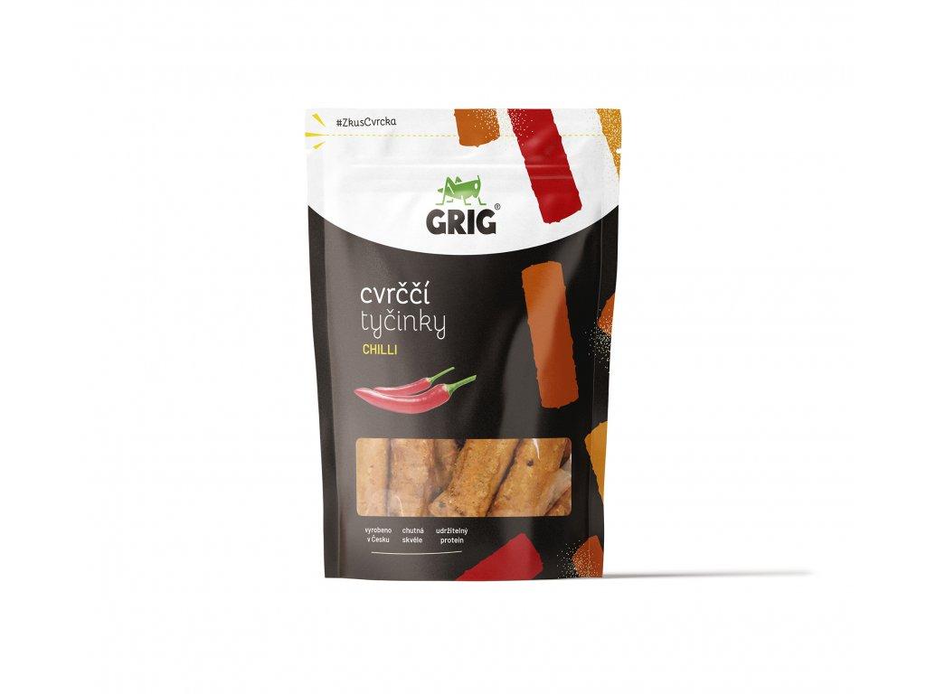 1 Cvrččí tyčinky Grig Jedlý hmyz Chilli