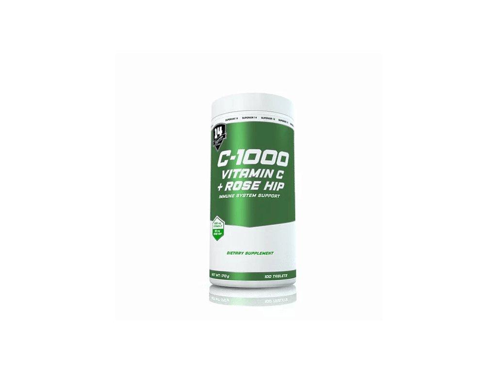 Superior 14 Vitamin C 1000 s šípkem a vápníkem 100 tablet