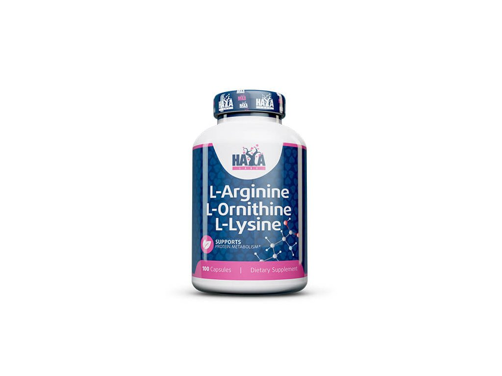 Haya Labs L-arginine / L-Ornitine / L-Lysine 100 kapslí