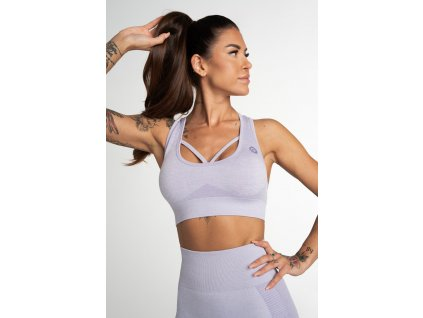 Gym Glamour Bezešvá Podprsenka Fusion Lavender