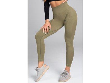Gym Glamour Legíny Bezešvé Combat Khaki
