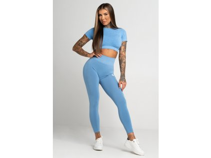 Gym Glamour Legíny Bezešvé Second Skin Blue