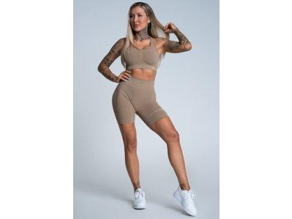 Gym Glamour Kraťásky Bikery Push Up Nude