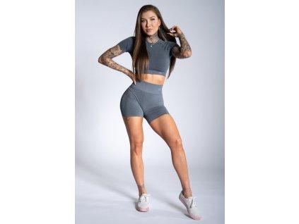 Gym Glamour Kraťásky Steel Grey Ombre