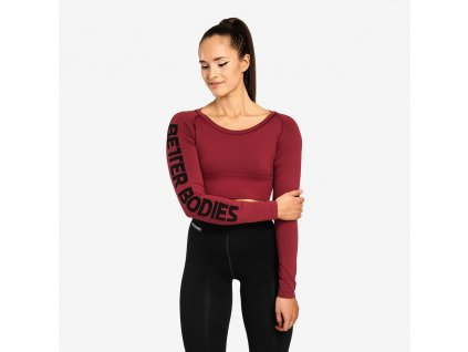 Better Bodies Crop-top Bowery Sangria Red