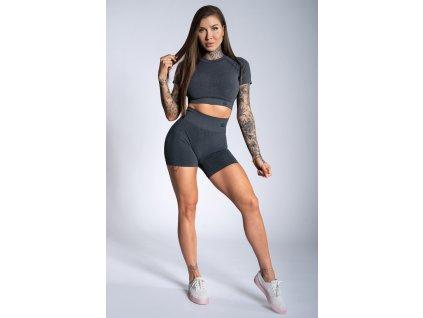 Gym Glamour Kraťásky Dark Grey Ombre