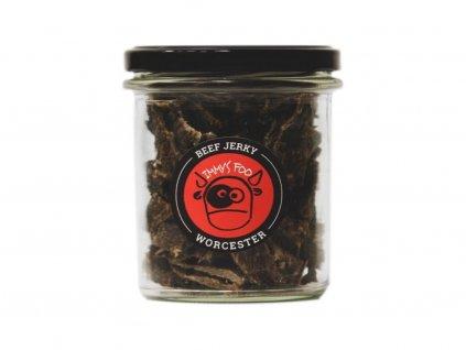 968 jimmy s food jerky worcester ve sklenici 100g.png