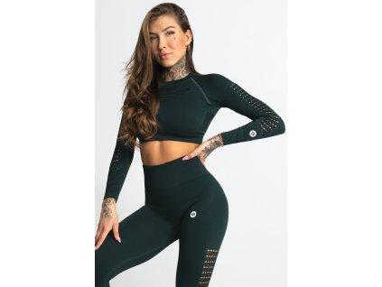 Gym Glamour Crop-Top Evergreen
