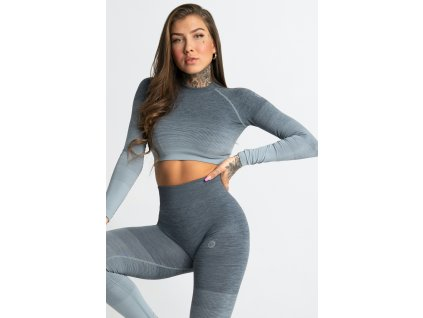 Gym Glamour Crop-Top Sea Ombre