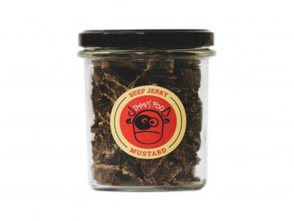 947 jimmy s food jerky horcice ve sklenici 100g.png
