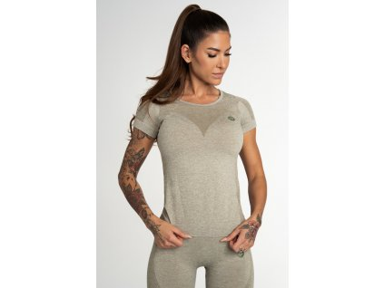 Gym Glamour Tričko Bezešvé Fusion Khaki