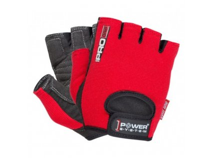 power system fitness rukavice pro grip cervene