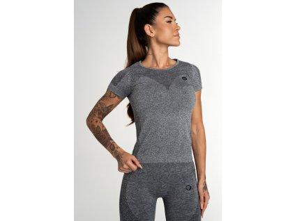 Gym Glamour Tričko Bezešvé Fusion Dark Grey