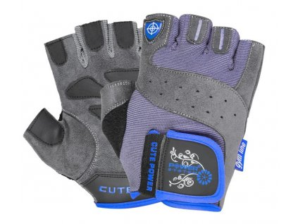 power system fitness rukavice cute power modre