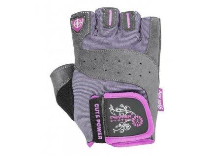 power system fitness rukavice cute power ruzove 1