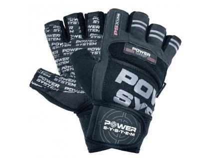 power system fitness rukavice power grip cerne