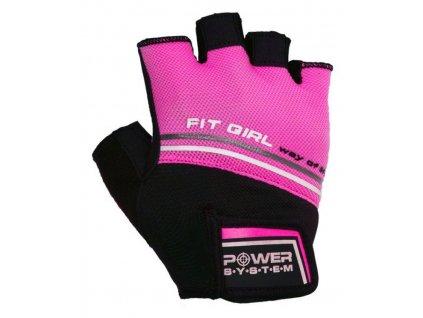 power system fitness rukavice fit girl evo ruzove 1