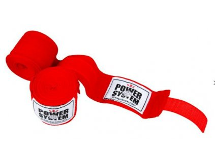 power system boxerske bandaze boxing wraps cervene