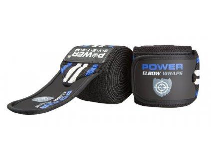 power system fitness bandaz na lokty elbow straps cerna modra 1