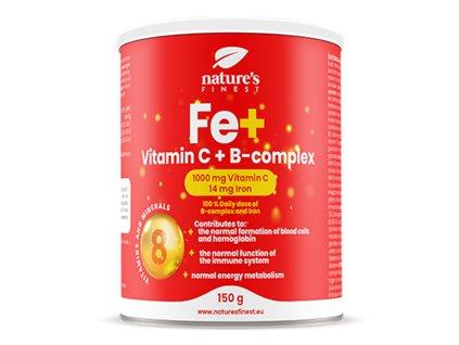Iron + Vitamin C + B-Complex 150g (Železo + Vitamín C + B-komplex)