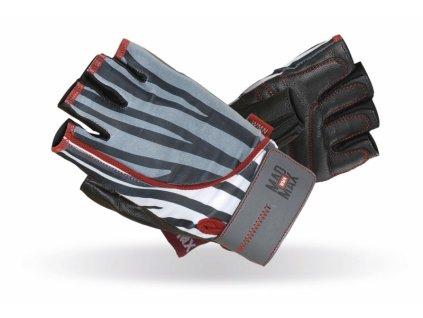 MADMAX Fitness rukavice NINE ELEVEN ZEBRA