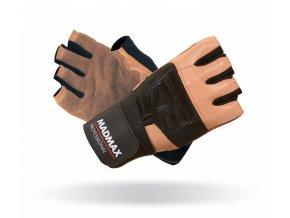 MADMAX Fitness rukavice PROFESSIONAL BROWN