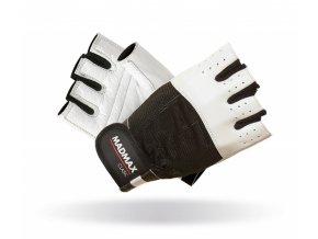 MADMAX Fitness rukavice CLASIC WHITE