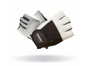 MADMAX Fitness rukavice FITNESS WHITE
