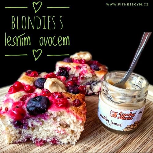 Blondies s lesním ovocem