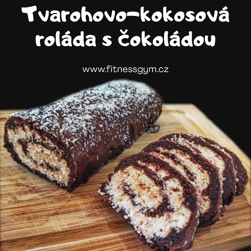 Tvarohovo-kokosová roláda s čokoládou