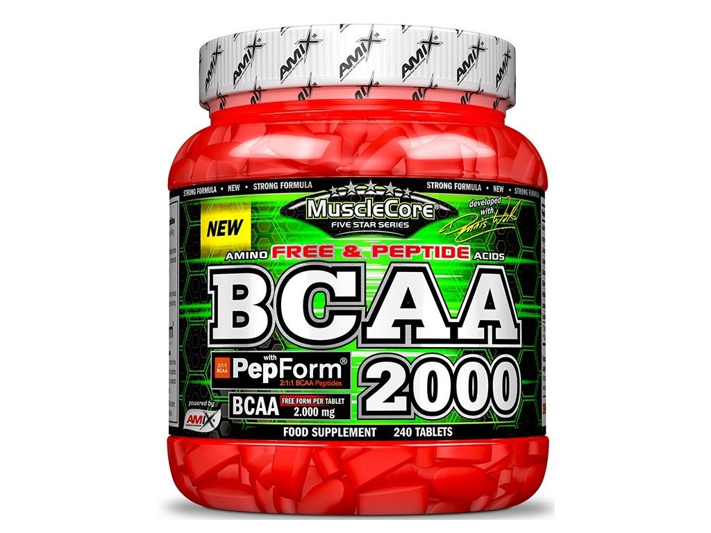 Amix MuscleCore BCAA with PepForm 240 tablet