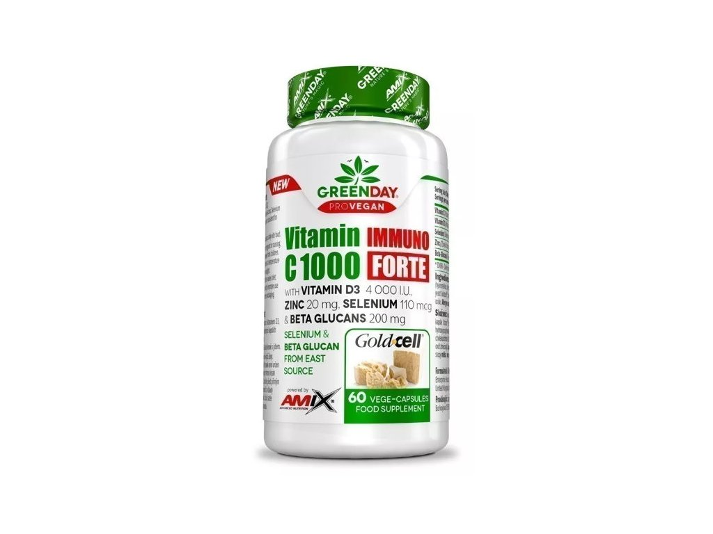 Amix ProVegan Vitamin C 1000 Immuno Forte 60kapslí